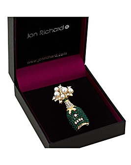Jon Richard Champagne Bottle Brooch