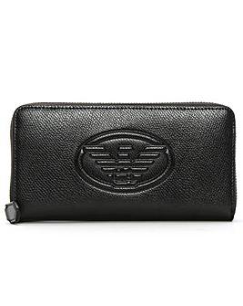 Emporio Armani Logo Zip Around Wallet
