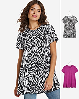 2 Pack Short Sleeve Swing Tunic