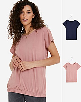2 Pack Bubble Hem Tops
