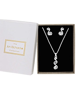 Jon Richard Crystal Wave Jewellery Set