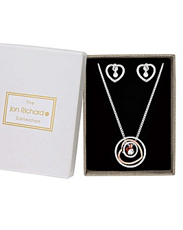 Jon Richard Heart Hoop Jewellery Set