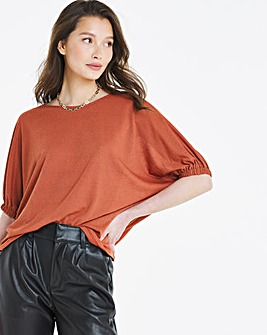 Volume Sleeve Cape Top