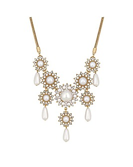 Mood Pearl Floral Statement Necklace