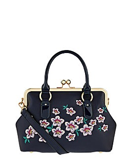 Accessorize Embroidered Frame Bag