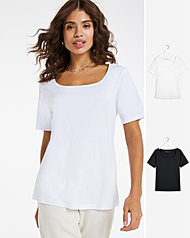 2 Pack Square Neck Tops