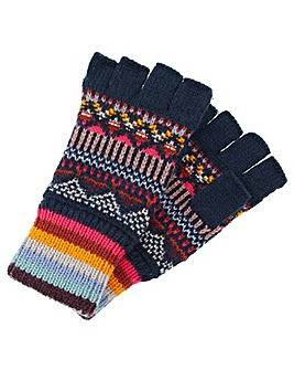 Accessorize Harvard Fairisle Fingerless
