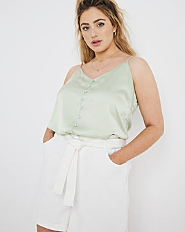 Satin Button Down Cami