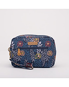 TRAILING LEAF LARGE WASH BAG NAVY