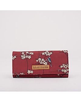 BLOSSOM FOLDOVER PURSE RED ONE SIZE