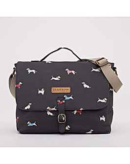 SAUSAGE DOG SATCHEL BAG CHARCOAL