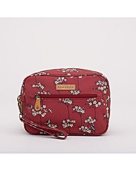 BLOSSOM LARGE WASH BAG RED ONE SIZE