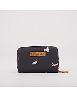SAUSAGE DOG WALLET CHARCOAL ONE SIZE