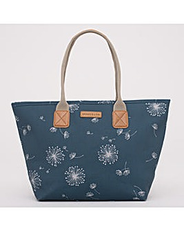 DANDELION TOTE BAG TEAL ONE SIZE