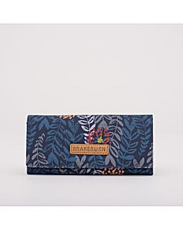 TRAILING LEAF FOLDOVER PURSE NAVY