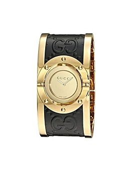Gucci Twirl Gold Leather Ladies Watch