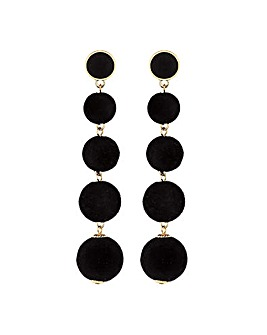 Mood Black Velvet Earring