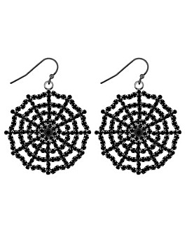 Mood Black Web Earring