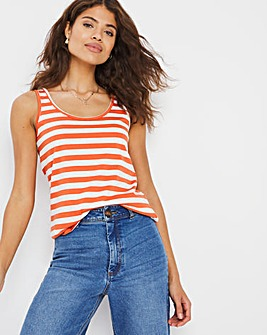Orange Stripe Value Cotton Vest