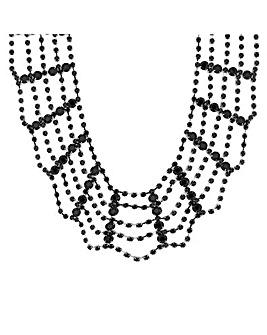 Mood Black Web Necklace