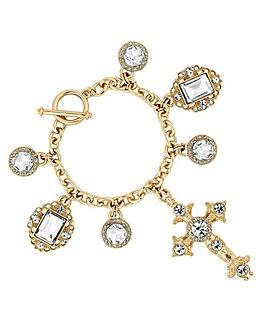 Mood Gold Cross Bracelet