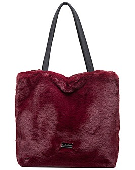 Claudia Canova Faux Fur Shoulder / Tote Bag