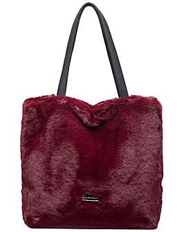 Claudia Canova Faux Fur Shoulder / Tote Bag