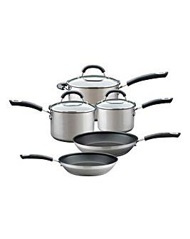 Circulon Total Stainless Steel 5 Piece Pan Set