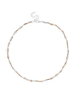 Simply Silver Two Tone Necklace