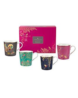 Sara Miller Set of 4 Mugs