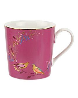 Sara Miller Pink Birds Mug