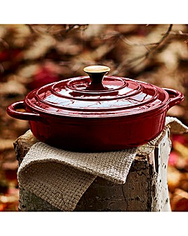 Tower Cast Iron Shallow Casserole Red