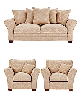 Mayfair Three Seater Sofa and Two Chairs