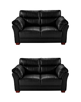 Ancona Leather 2 Seater plus 2 Seater