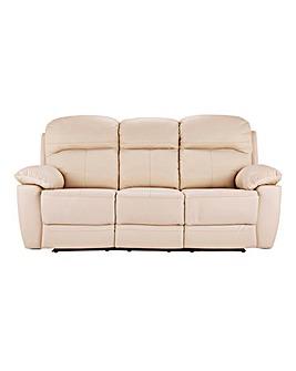 09095479fa1 Roma Leather Recliner Three Seater Sofa