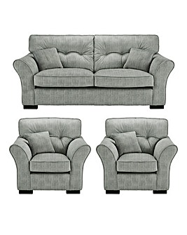 Louis 3 Seater Sofa plus 2 Chairs