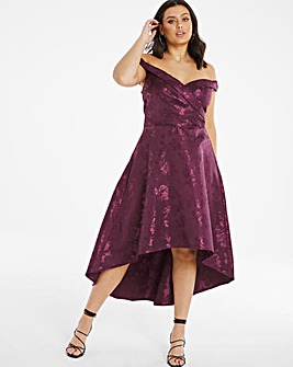 Chi Chi Bardot Dipped Hem Dress
