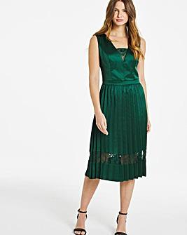 Chi Chi London Pleated Midi Dress