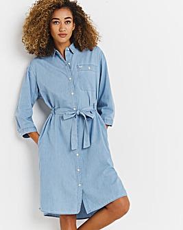 Lee Denim Midi Shirt Dress