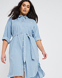 Lee Denim Midi Shirt Dress