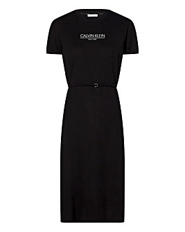Calvin Klein Logo T-Shirt Dress