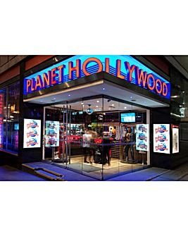 Planet Hollywood Meal with Wine for Two