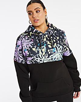 Hype Floral Panel Hoodie
