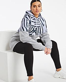Hype Zebra Print Hoodie