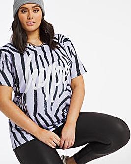 Hype Zebra Print T-Shirt