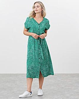 Joules V Neck Midi Dress