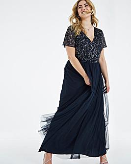 Maya Curve Delicate Sequin Maxi Dress