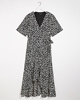 Lovedrobe Animal Print Wrap Dress