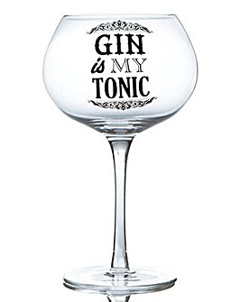 GIN BLOOM GLASS - GIN IS MY TONIC