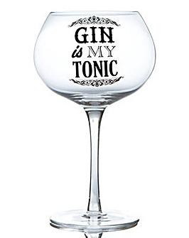 GIN BLOOM GLASS - GIN IS MY TONIC